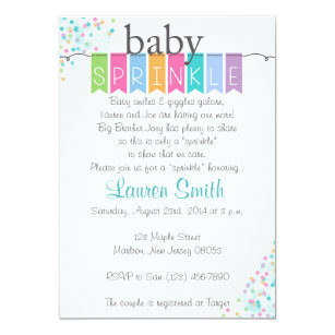 baby sprinkle invitations zazzle
