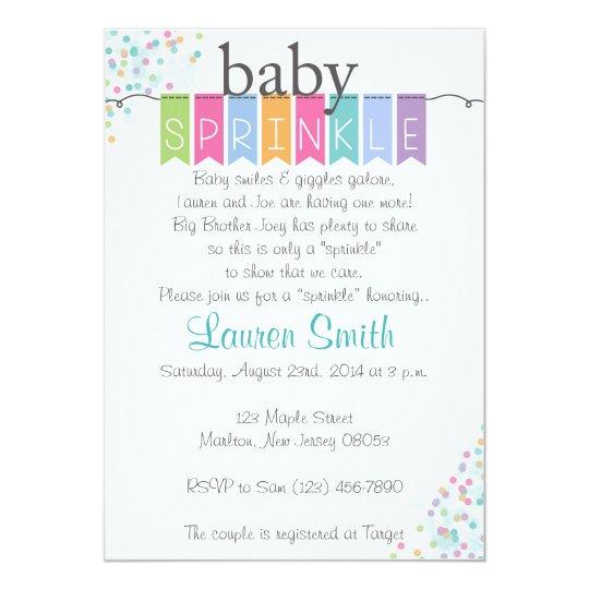 Gender Neutral Baby Sprinkle Invitations Zazzlecom