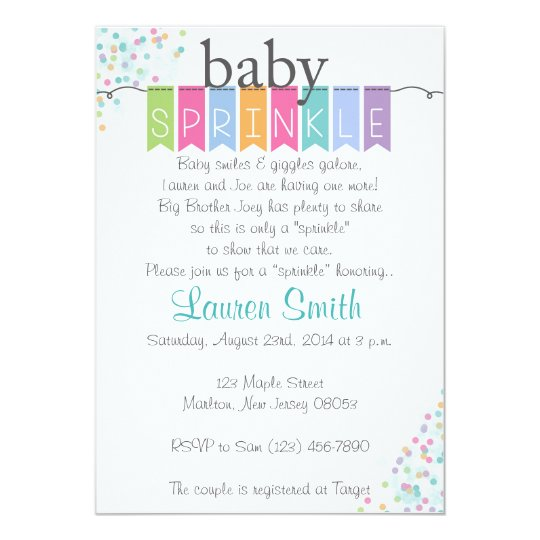 gender neutral baby sprinkle invitations zazzle com