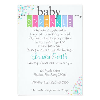 Gender Neutral Baby Sprinkle Invitations