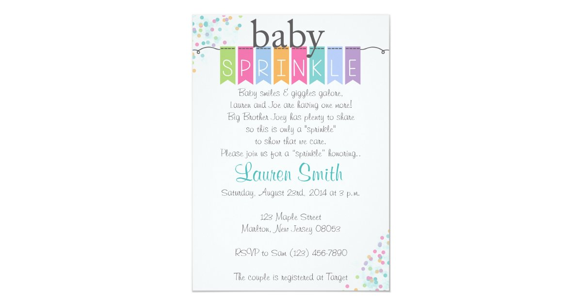 Gender Neutral Baby Sprinkle Invitations | Zazzle.com