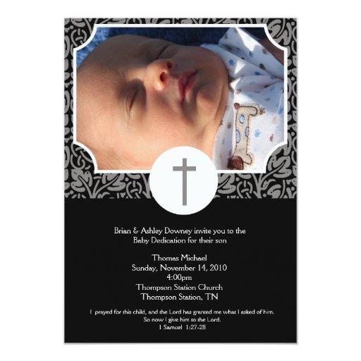 Gender Neutral Baptism / Baby Dedication 5x7 photo Card