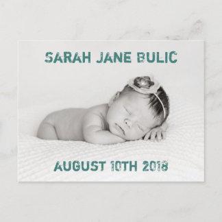 Gender Neutral Birth Announcement