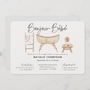 Colorful Pattern Unisex Baby Shower Card or New Baby Card \u2022 by @mydarlin/_bk Bonjour Bebe Card