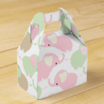 Gender Neutral Cute Baby Elephant Favor Box