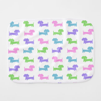 Gender Neutral Dachshund Baby Burp Cloth