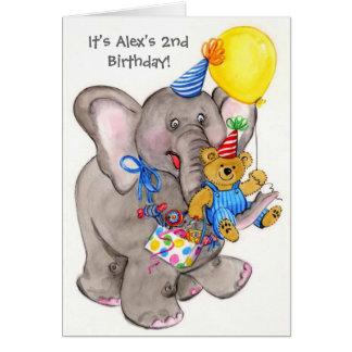 Gender neutral elephant customizable invitations