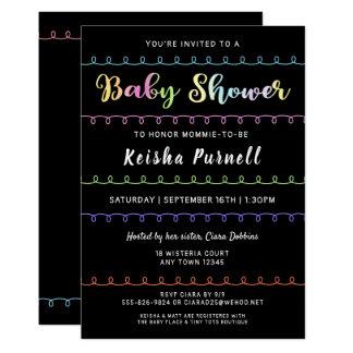 Gender Neutral Fun Loops Baby Shower Invitation