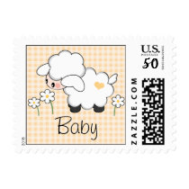 Gender Neutral Lamb Baby Shower Postage Stamp