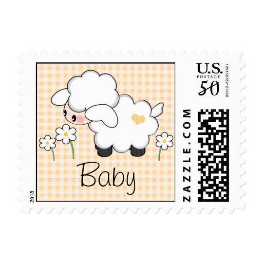 Gender Neutral Lamb Baby Shower Postage Stamp Zazzle Com