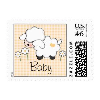 Gender Neutral Lamb Baby Shower Postage Stamp
