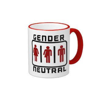 GENDER NEUTRAL: LGBT Toilet Rights Political Issue Ringer Mug