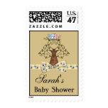Gender Neutral Lovebirds & Ladybugs Baby Shower Stamp