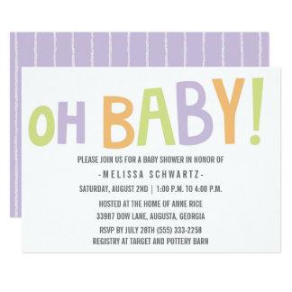 Gender Neutral Oh Baby Baby Shower Invitation