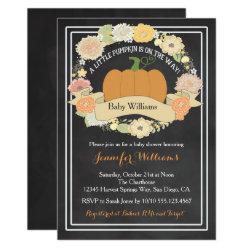 Gender Neutral Pumpkin Baby Shower Invitation