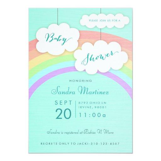 gender neutral rainbow baby shower invitation zazzle
