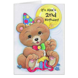 Gender neutral teddy bear customizable invitations