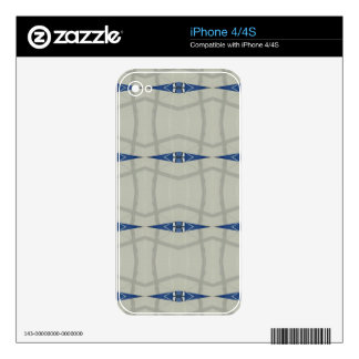Gender Nuetral Blue Light Gray Pattern Decal For The iPhone 4S