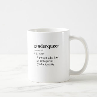 GENDER QUEER CLASSIC WHITE COFFEE MUG