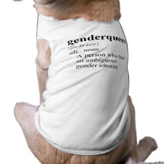 GENDER QUEER DOG TEE SHIRT