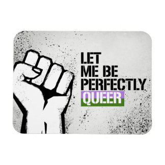 Gender Queer - Let me be perfectly queer - - LGBTQ Magnet
