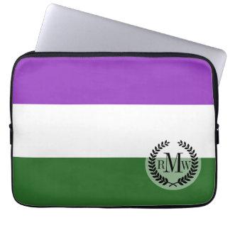 Gender Queer Pride Flag Laptop Computer Sleeve