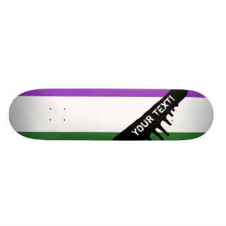Gender Queer Pride Flag Skateboard