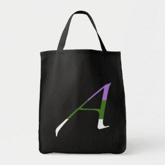 """Gender Queer Pride """"Scarlet"""" Letter A Tote Bags"""