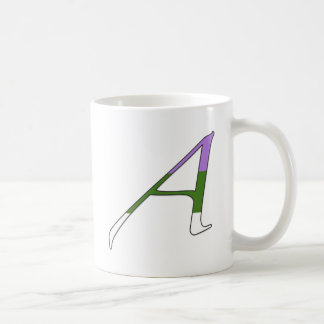 """Gender Queer Pride """"Scarlet"""" Letter A Classic White Coffee Mug"""