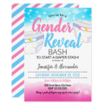 Gender Reveal and diaper shower Invitation