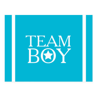 Gender Reveal Aqua Blue Team Boy A01A Postcard