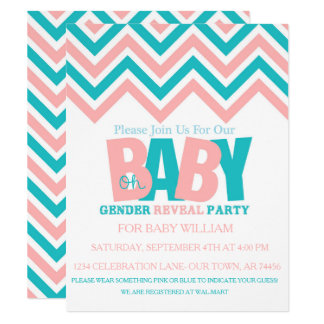 GENDER REVEAL BABY CARD