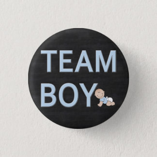 Gender Reveal Baby Party Custom Team Boy Button