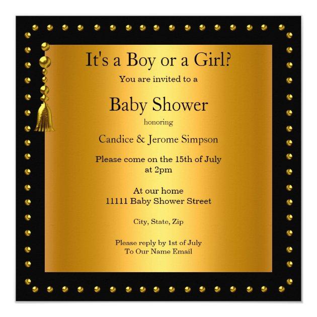 Gender Reveal Baby Shower Boy or Girl Ethnic Card (back side)