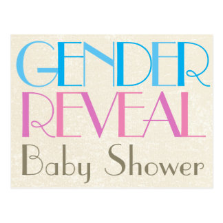Gender Reveal Baby Shower Invitation Postcard