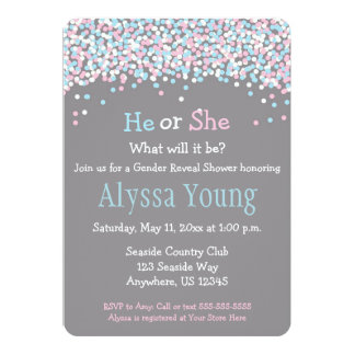 Gender Reveal Baby Shower Invitations & Announcements | Zazzle