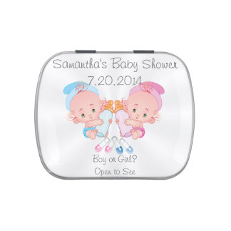 Gender Reveal  Baby Shower Party Favor Jelly Belly Tin