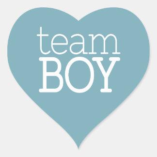 Gender Reveal Baby Shower - Team Blue Boy Heart Sticker