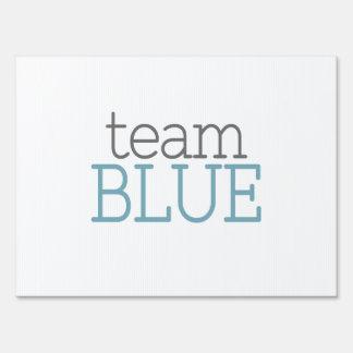 Gender Reveal Baby Shower - Team Blue Lawn Sign