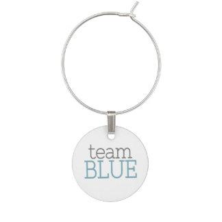 Gender Reveal Baby Shower - Team Blue Wine Charm