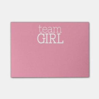 Gender Reveal Baby Shower - Team Pink Girl Post-it Notes