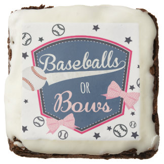 Gender reveal Baseball or bow Brownie