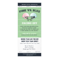 Gender Reveal Football Ticket Baby Shower Invitati Personalized Invitation