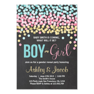 Gender Reveal Invitation Baby Shower Boy Or Girl at Zazzle