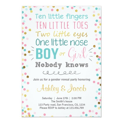 gender reveal invitation baby shower boy or girl - Free Printable Gender Reveal Party Invitations