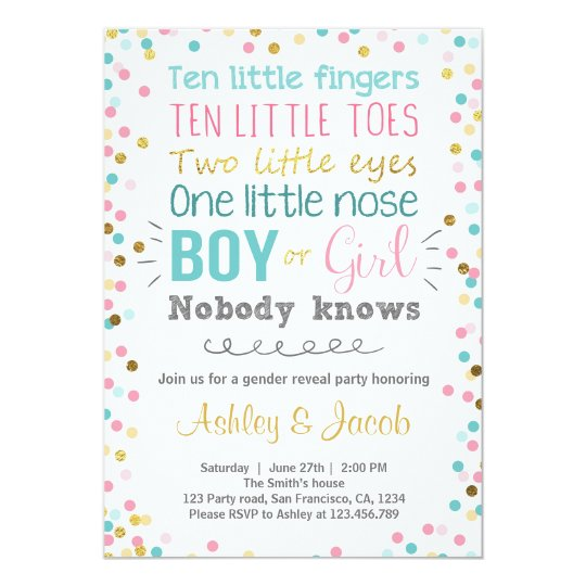 gender reveal invitation baby shower boy or girl zazzle