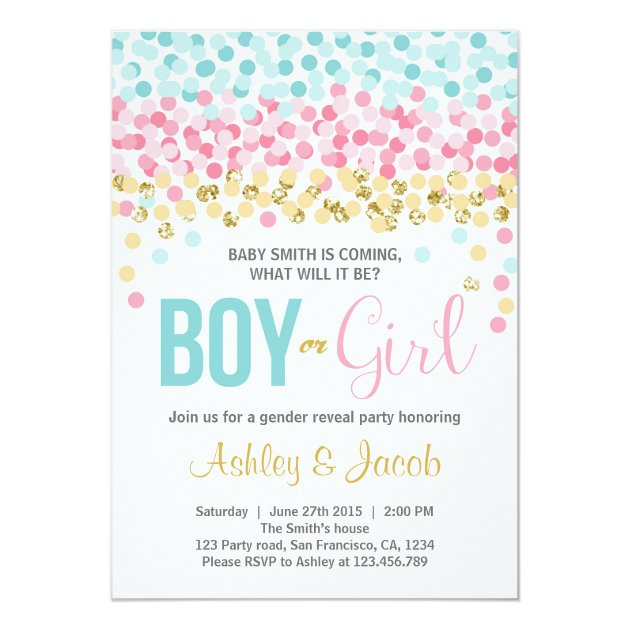 Personalized Gender reveal Invitations – Gender Reveal Party Invitations