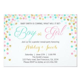 Gender reveal invitation Baby shower He or She