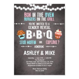 Gender Reveal Invitation BabyQ BBQ Couples Shower