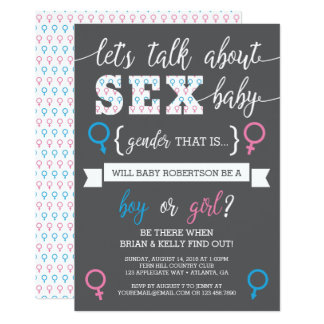 Gender Reveal Invitation, Let's Talk About Gender Card